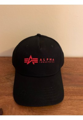 Čepice ALPHA CAP Alpha Industries BLACK/RED