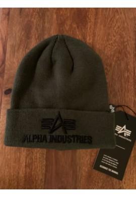 čepice 3D Beanie Alpha Industries Dark Green