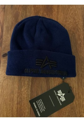 čepice 3D Beanie Alpha Industries Repl. Blue