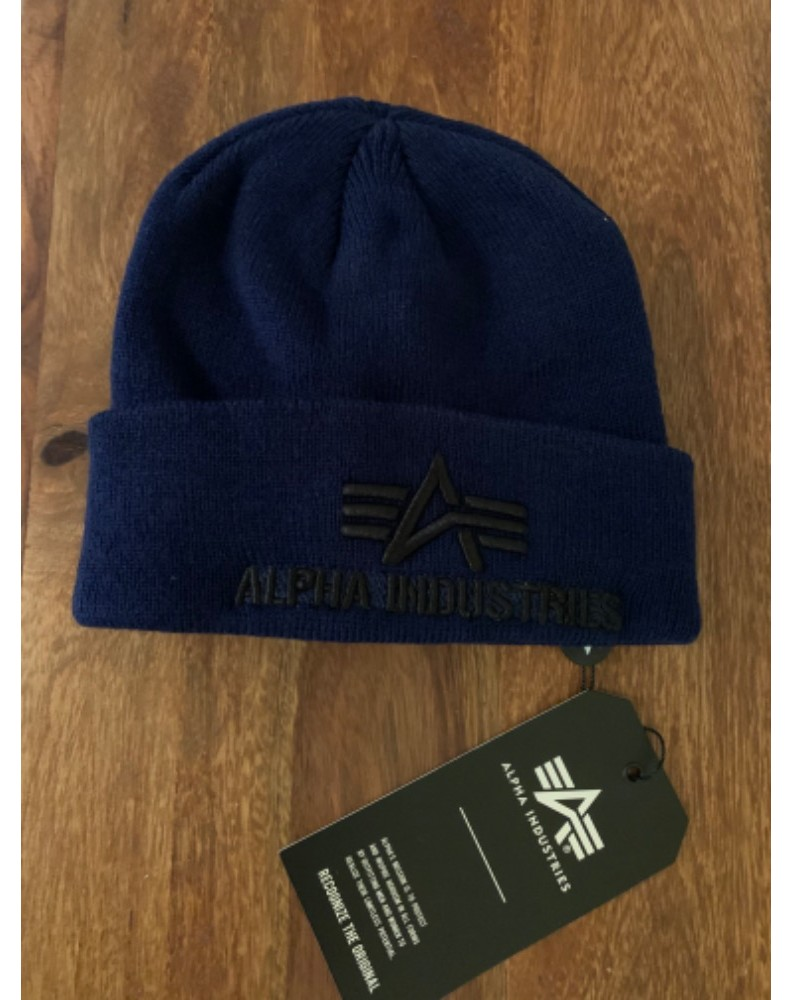 čepice 3D Beanie Alpha Industries Repl. Blue