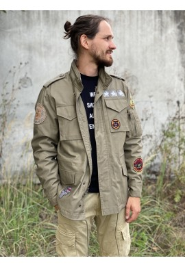 bunda M-65 HERRITAGE CUSTOM Alpha Industries OLIVE