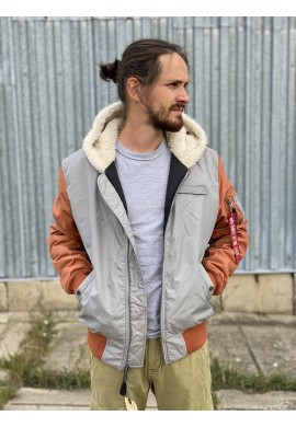 MA-1 HOODED CB Alpha Industries SILVER