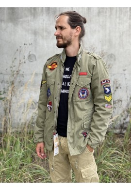 Bunda VINTAGE M-65 CW PATCH Alpha Industries LIGHT OLIVE