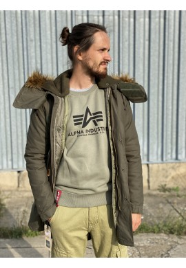 Bunda VINTAGE FISHTAIL Alpha Industries OLIVE