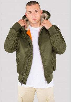 Bunda MA-1 HOODED Alpha Industries DARK GREEN