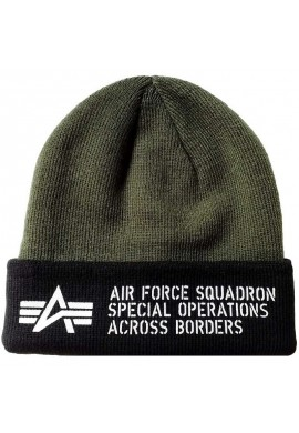 čepice Air Force Beanie Alpha Industries Dark Green