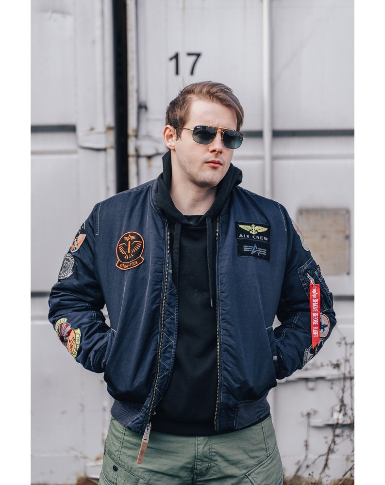 MA-1 Pilot Alpha Industries Repl. Blue Ovd.