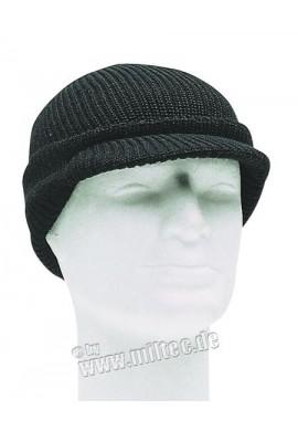 Pletenka s kšiltem US JEEP CAP WOLLE černá