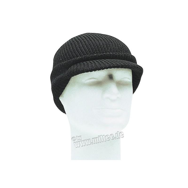 Pletenka s kšiltem US JEEP CAP ACRYL černá