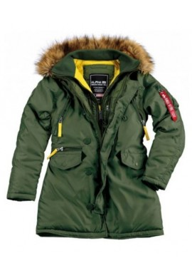 Dámská bunda PPS N3B Alpha Industries Wmn. Dark green