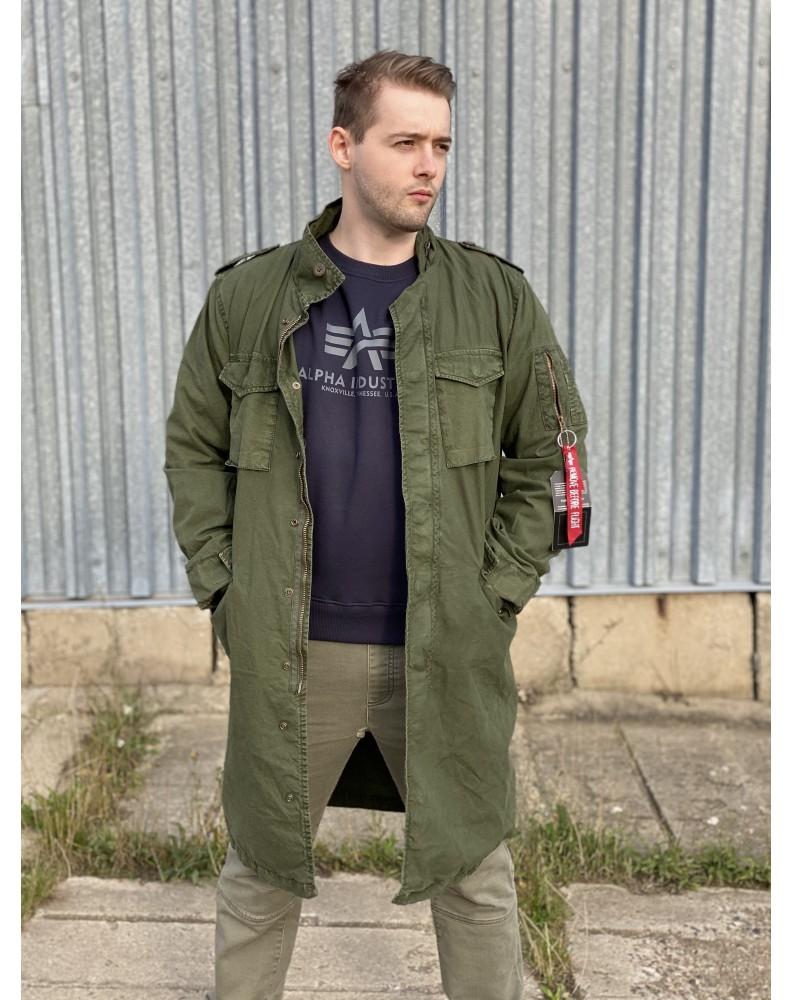 Kabát M-65 LW Alpha Industries Dark green