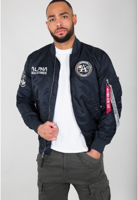 Bunda MA-1 MOON LANDING REV Alpha Industries REPL. BLUE