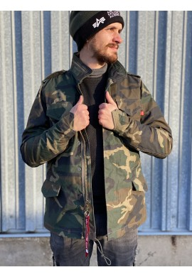 Bunda M-65 Heritage Alpha Industries Woodland