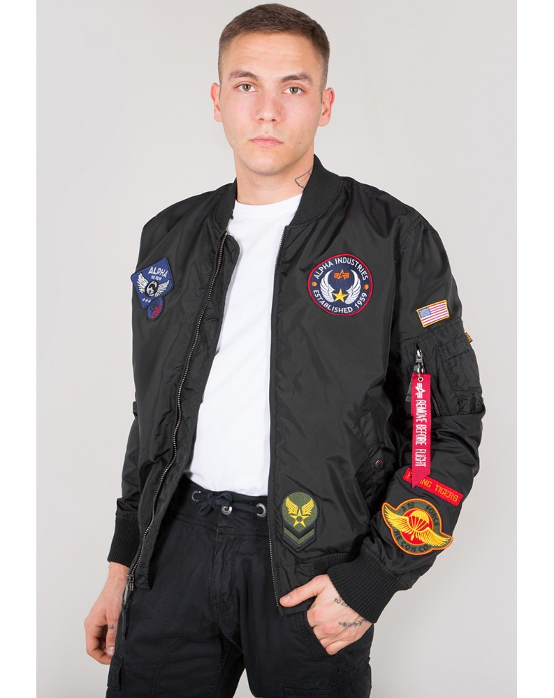 Bunda MA-1 TT PATCH II Alpha Industries BLACK