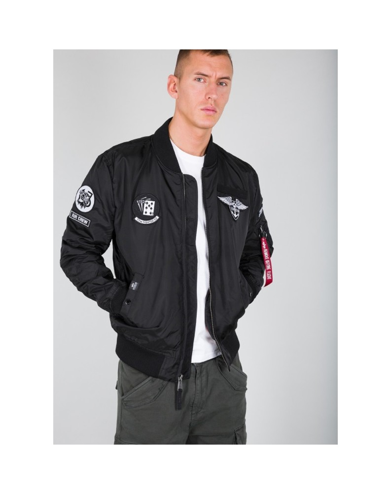 Bunda MA-1 TT PATCH SF Alpha Industries BLACK
