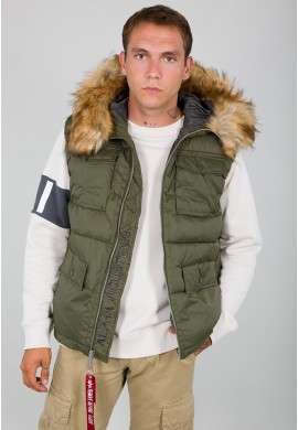 Vesta HOODED FIELD VEST FD Alpha Indst. DARK GREEN
