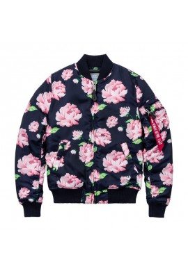 Dámská Bunda MA-1 VF FLOWERPRINT Wmn. Alpha Industries