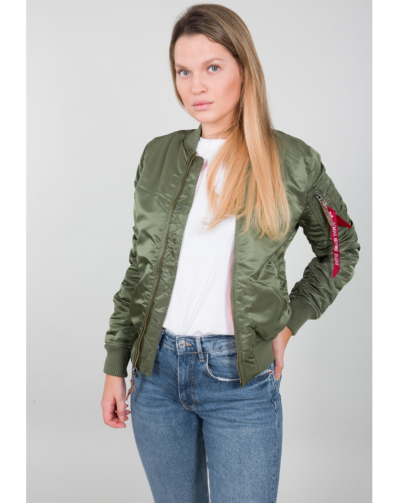 Dámská Bunda MA-1 VF 59 Wmn Alpha Industries SAGE GREEN