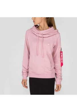 Mikina Fit Hoody Wmn, Alpha Industries Silver pink