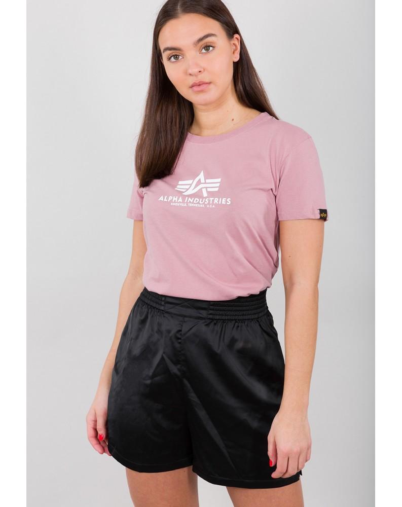 Dámské tričko NEW BASIC T Wmn Alpha Indst. SILVER PINK