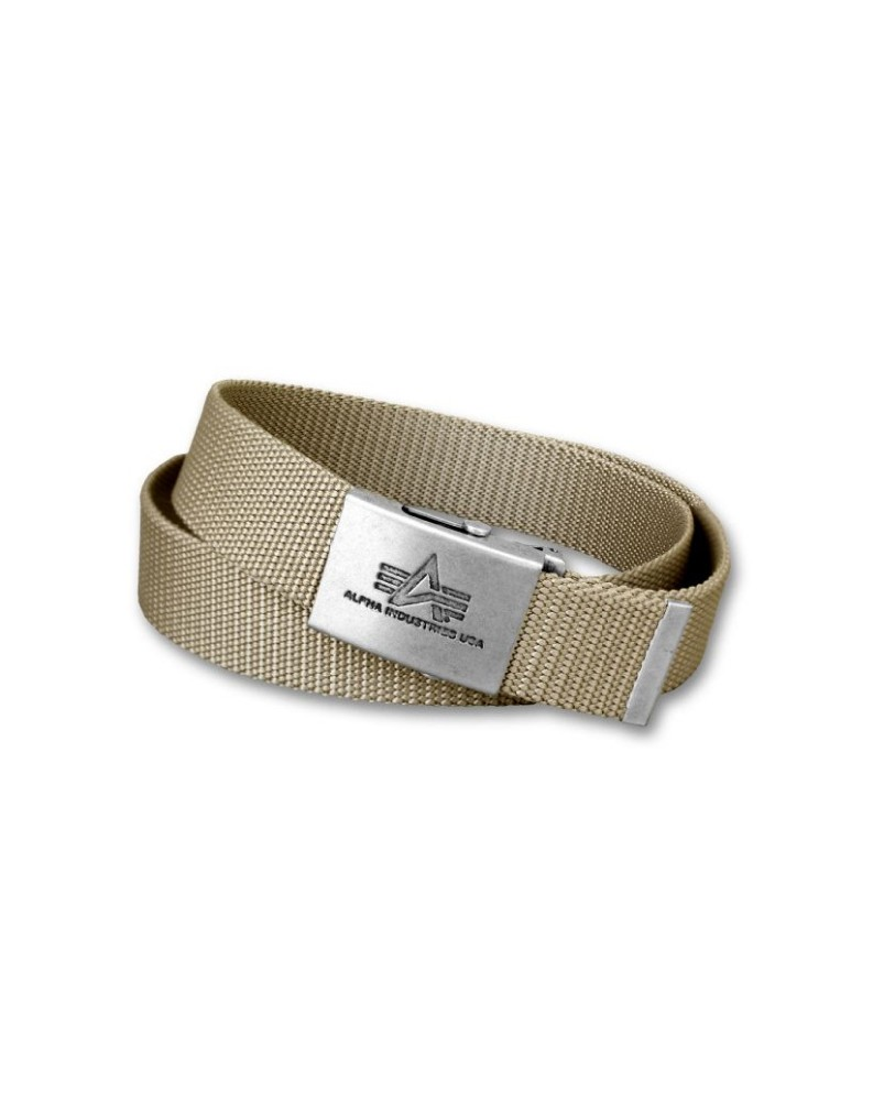 Opasek HEAVY DUTY BELT 4 CM Alpha Industries KHAKI