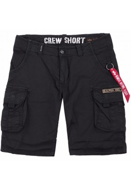 Kraťasy CREW Short Alpha Industries, BLACK