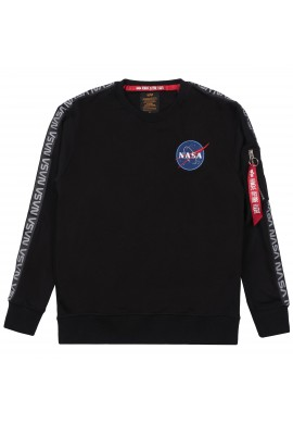Mikina NASA TAPE SWEATER NS Alpha Industries BLACK