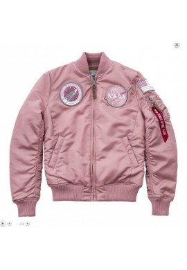 Bunda MA-1 NASA Wmn. Alpha Industries silver pink