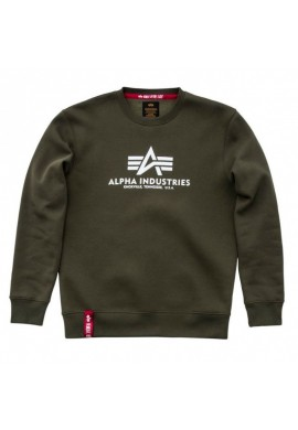 Mikina BASIC SWEATER Alpha Industries DARK GREEN