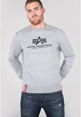 Mikina BASIC SWEATER Alpha Industries GREYHEATHER