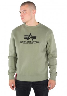 Mikina BASIC SWEATER Alpha Industries OLIVE