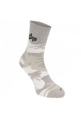 Ponožky Camo, Alpha Industries White camo