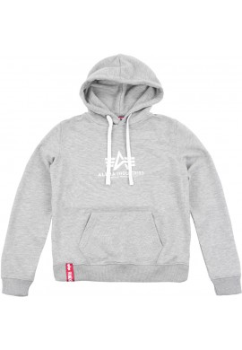 Mikina New Basic Hoody Wmn, Alpha Industries Grey heather