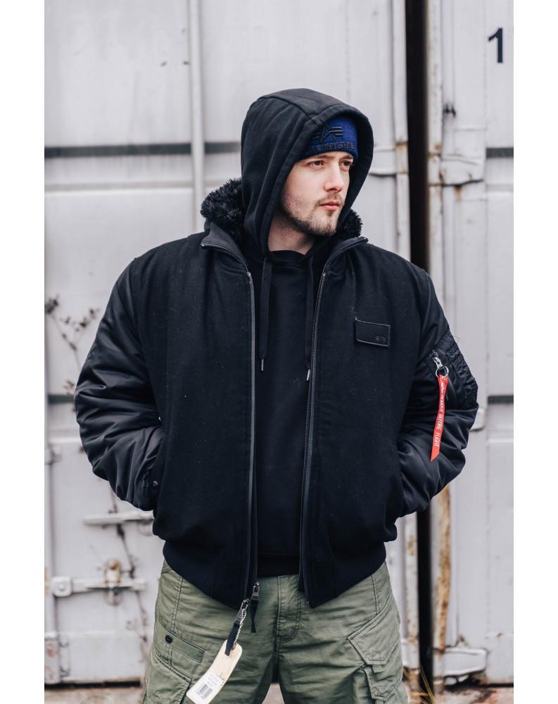 Bunda MA-1 D-Tec Wool, Alpha Industries Black