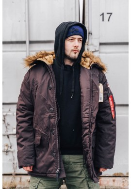 Bunda POLAR JACKET Alpha Industries VINTAGE BROWN
