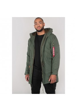 Bunda HOODED FISHTAIL Alpha Industries DARK OLIVE