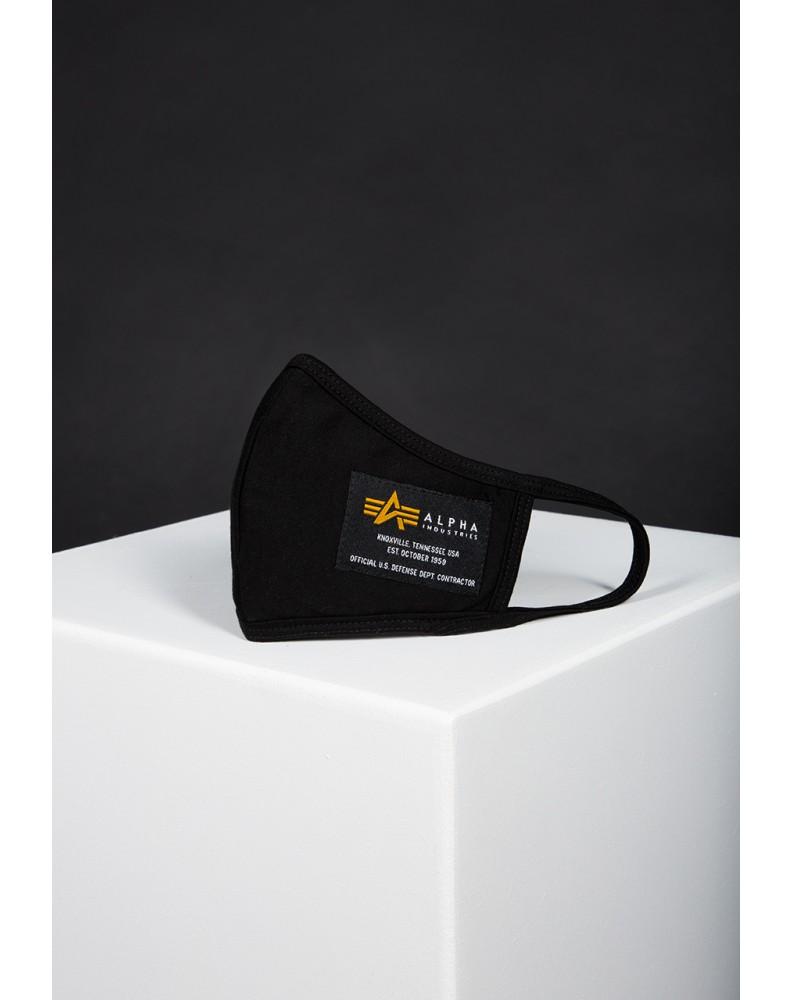 Rouška Crew Facemask Alpha Industries Black