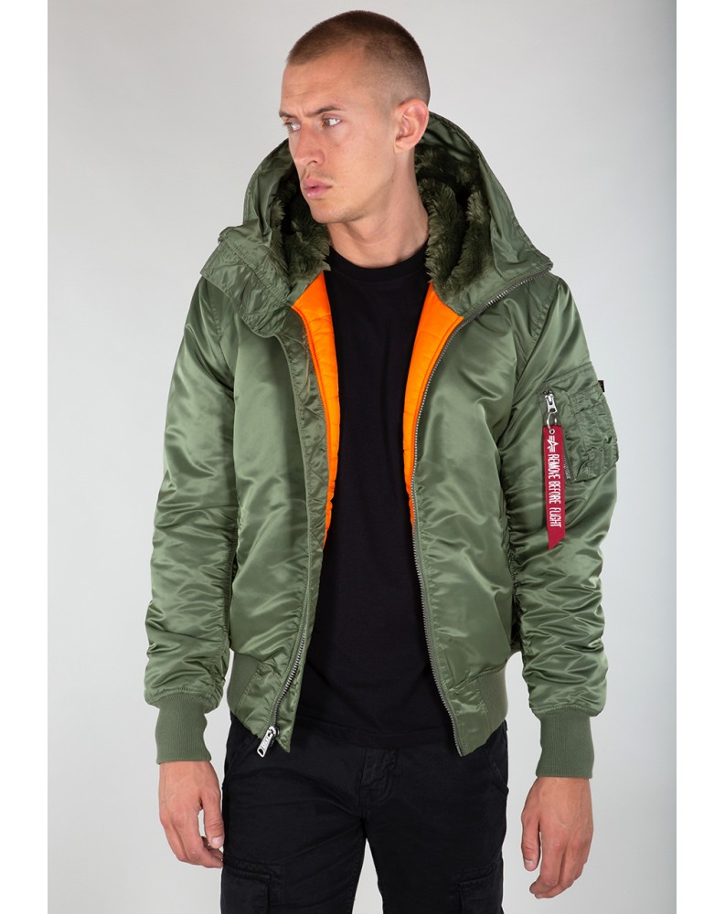 Bunda MA-1 Hooded Alpha Industries Sage green
