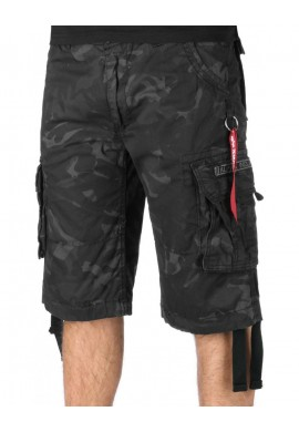 Kraťasy JET SHORT Alpha Industries BLACK CAMO